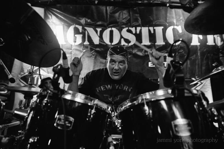 Photo by Jammi Sloan York- Lou Beato drumming for Cause for Alarm-Agnostic Front