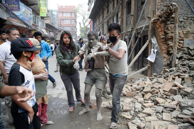 Image: Powerful earthquake hits Nepal